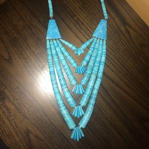 Vintage Santo Domingo Turquoise Heishi Necklace